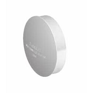 Marley Round Downpipe End Cap 80 mm Unplasticised PVC CS80