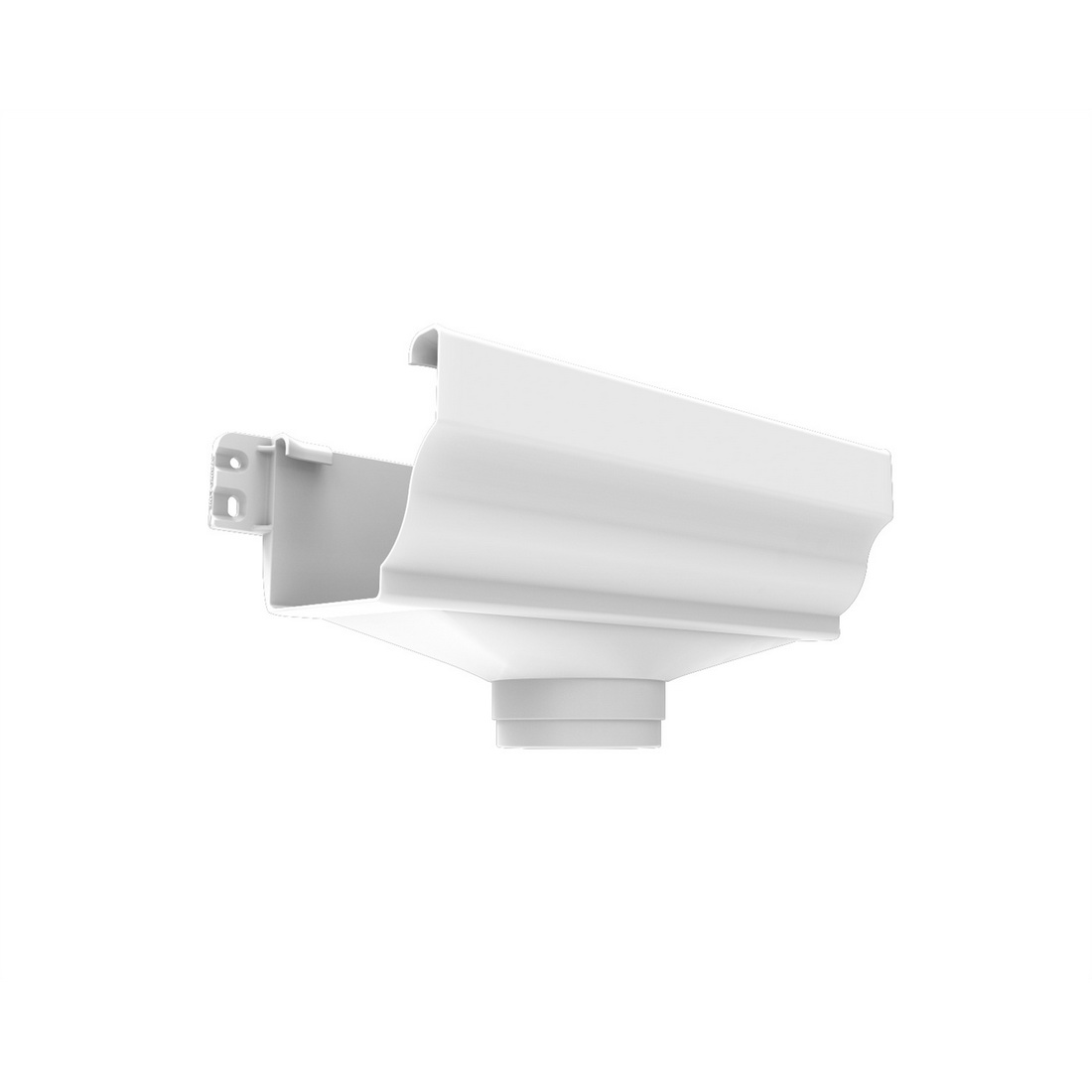 Marley Classic Spouting Expansion with Plate Outlet 80 x 210 x 130 mm White MC8.80