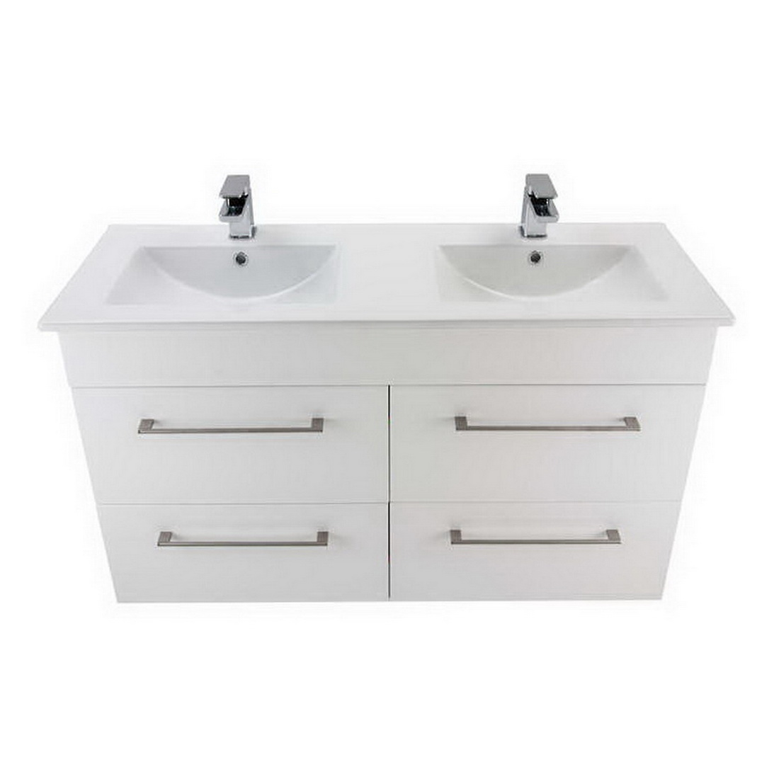 Newtech Montana Citi 4 Drawer Wall Hung Vanity 1200 X 685 X 460 Mm Gloss White 3237 Vanity Wall Hung Vanities Bathrooms Accessories Bathrooms Plumbing Shop Placemakers
