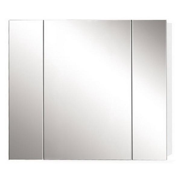 Newtech Avon Mirror Cabinet 800 x 900 mm Gloss White 3 Doors 5020