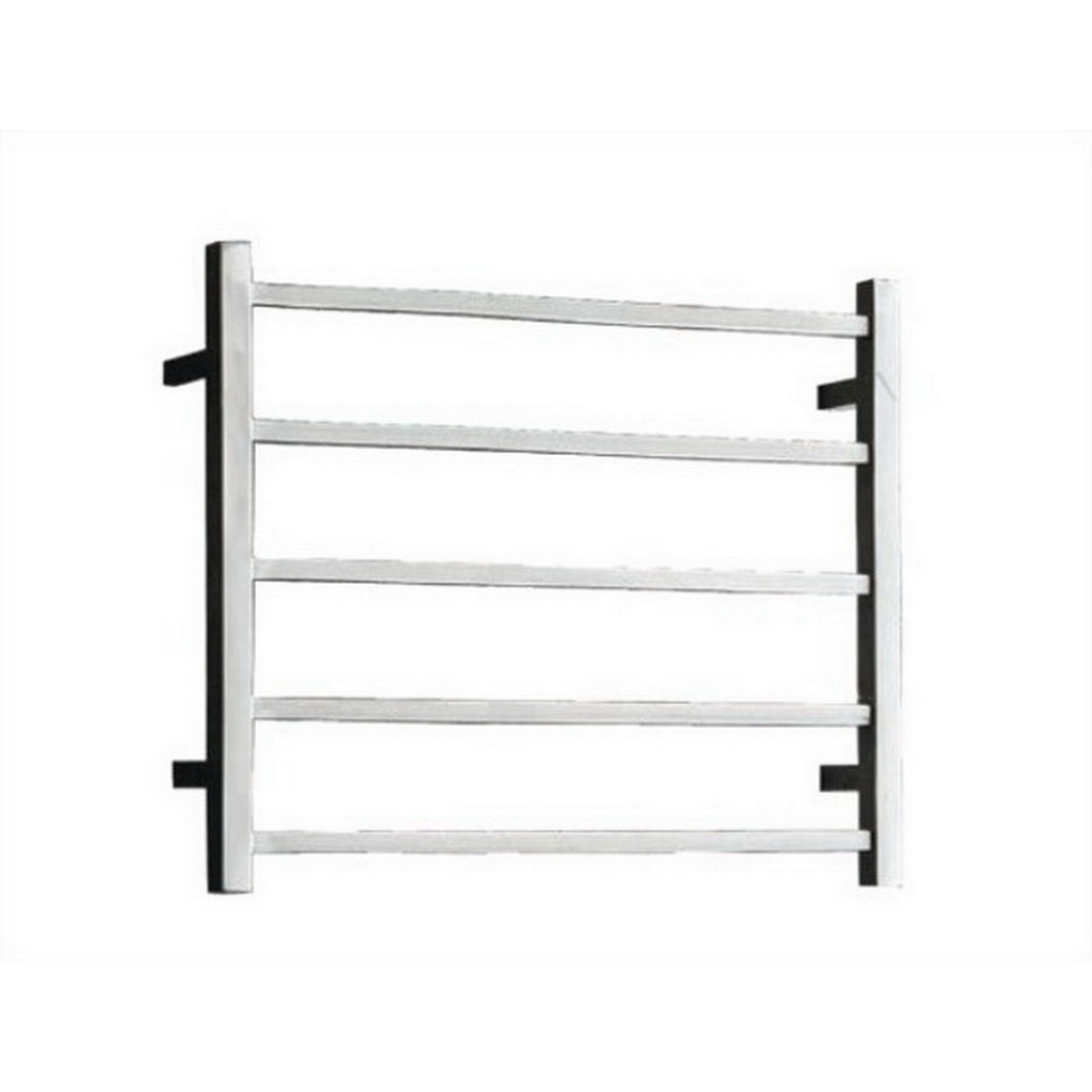 Newtech Square Heated Towel Rail Ladder 530 x 600 x 122 mm Mirror Polished 5 Bars 58 W ST65