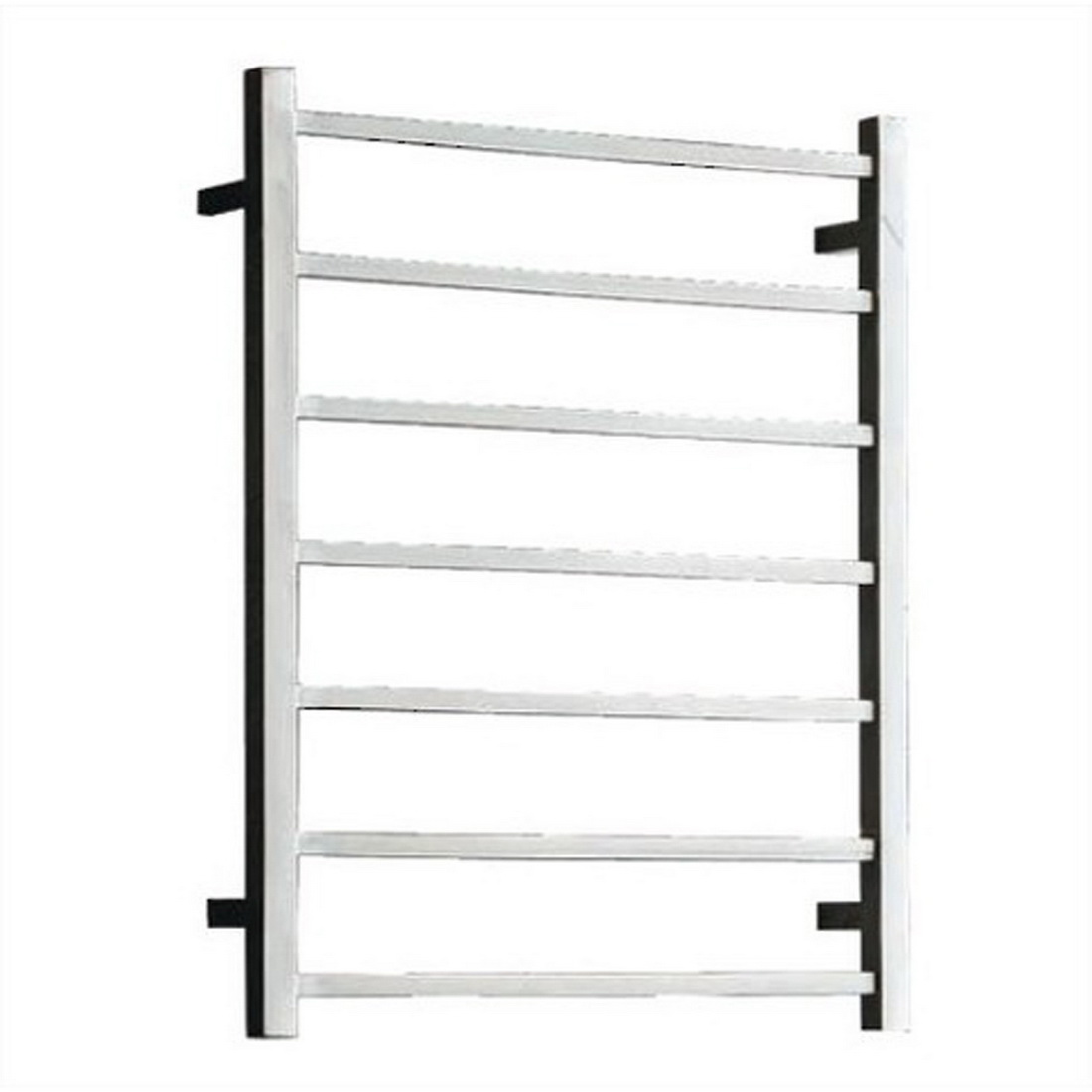 Newtech Square Heated Towel Rail Ladder 800 x 450 x 122 mm Mirror Polished 7 Bars 65 W ST78