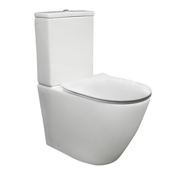 Parisi Ellisse MK II Close Coupled Back to Wall Toilet Suite 4.5/3L 365 x 645 x 855 mm P/S Trap Vitreous China