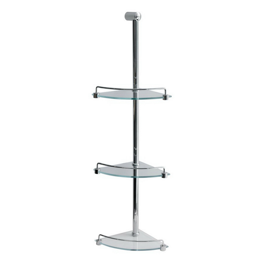 Progetto 3 Tier Glass Shower Caddy 770 mm Chrome SCC3