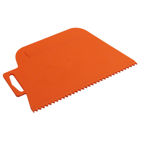 QEP V Notch Plastic Adhesive Spreader 4mm Orange 15000