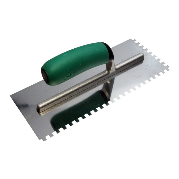 QEP Square Notch Mega Grip Adhesive Trowel 8mm Stainless Steel 18780
