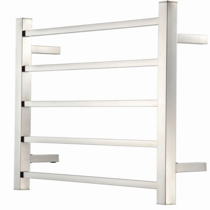Raymor S Series Square Towel Warmer 600 x 120 x 560 mm 5 Rail Stainless Steel High Polish WHRT560