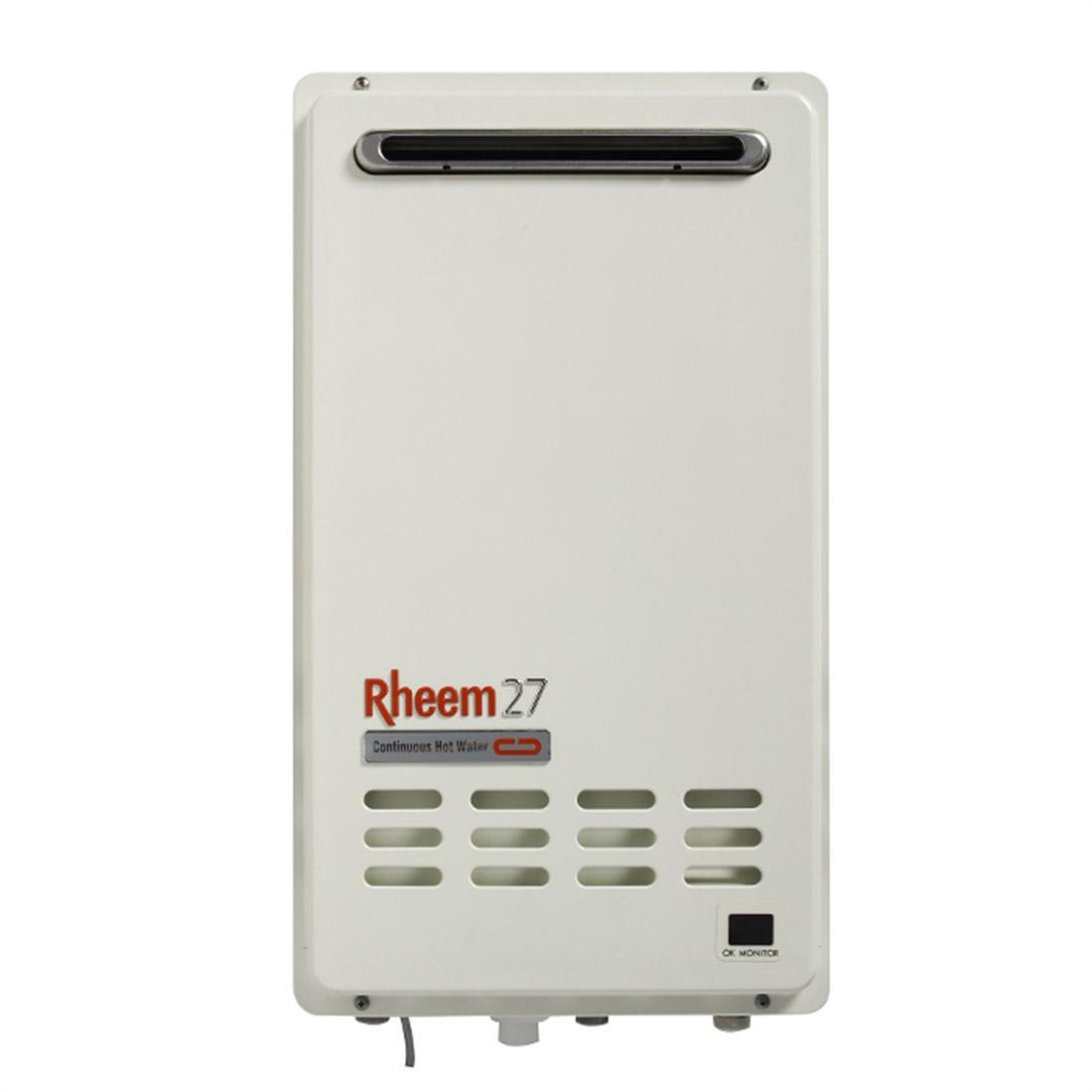 Rheem 874 Series Integrity Continuous Flow ULPG Gas Water Heater 27L Outdoor 6 Star 874627LPZ