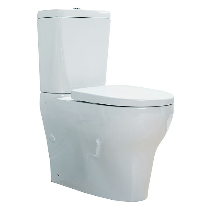 Robertson Cygnet Overheight Square Cistern Back to Wall Top Inlet Toilet Suite 870 x 376 x 660 mm White 12981.1