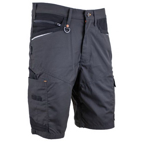 Lightweight Poly Cotton Cargo Shorts Charcoal