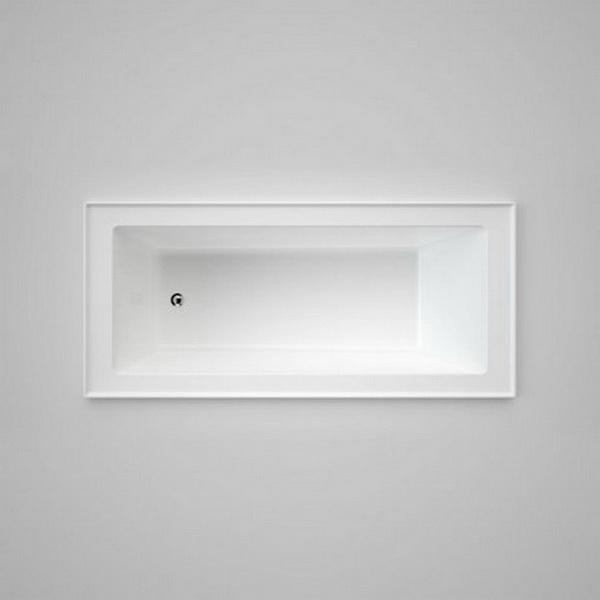 Stylus Newbury 1675 Series Rectangular Square Bathtub 1670 x 760 x 468mm Acrylic White