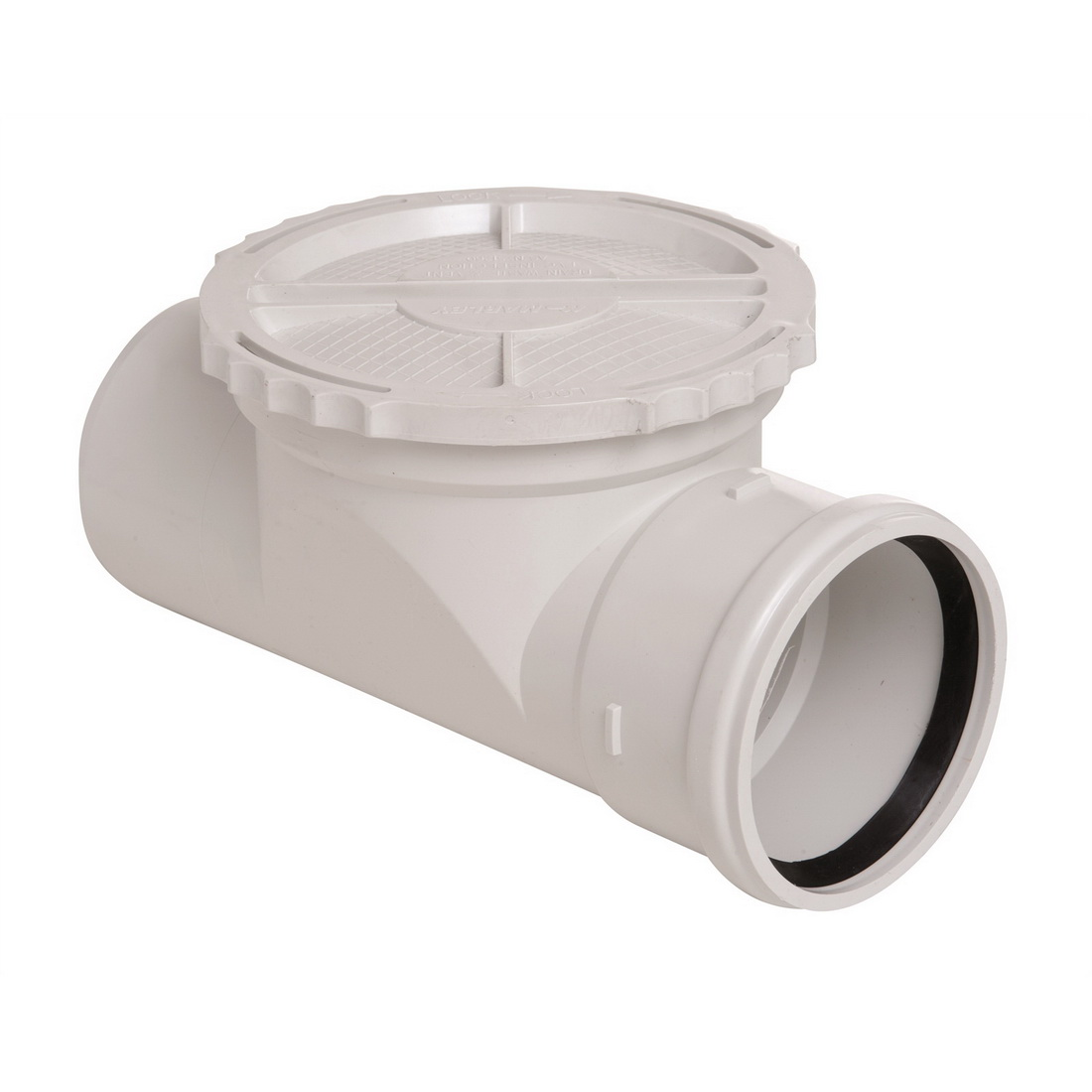 TD Plastics Inspection Downpipe with Riser 100mm 1529.1
